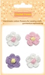 Decorative handmade cotton crochet flowers