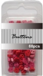 Red set assort mini flower buttons wholesale