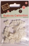 Pearl white craft plastic butterfly buttons-novelty buttons-embellishments