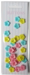 Girl set craft plastic flower buttons-novelty buttons-embellishments
