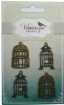 Decorative Vintage Alloy Charms Birdcages