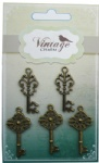 Decorative Vintage Alloy Keys charms