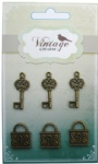Decorative Vintage Alloy Keys & Lock
