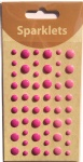 self adhesive enamel dots-fushcia collection-embellishments