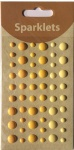 self adhesive enamel dots-yellow collection-embellishments