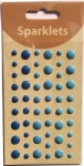 self adhesive enamel dots-Blue collection-embellishments