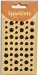 self adhesive enamel dots-black collection-embellishments