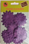 Violet collection scrapbook paper flowers-paper petals-embellishments