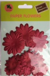 Red collection scrapbook paper flowers-paper petals-embellishments