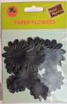 Black collection scrapbook paper flowers-paper petals-embellishments